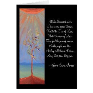 Árbol de danza de Sun del nativo americano de la Tarjeta De Felicitación