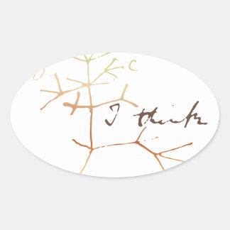 Árbol de Darwin de la vida: Pienso Pegatina Ovalada