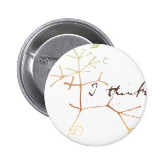 Árbol de Darwin de la vida: Pienso Pin Redondo De 2 Pulgadas