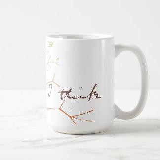 Árbol de Darwin de la vida: Pienso Taza