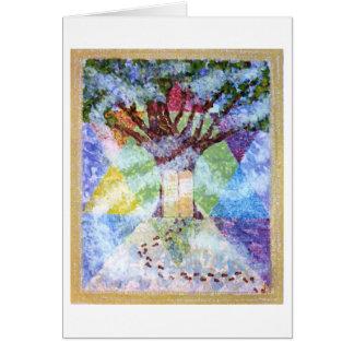 Árbol de diez mandamientos de la vida tarjeta de felicitación