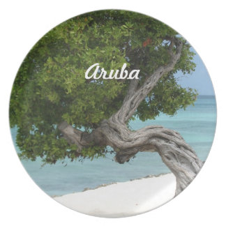 Árbol de Divi Divi en Aruba Plato Para Fiesta