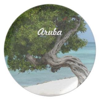 Árbol de Divi Divi en Aruba Platos De Comidas
