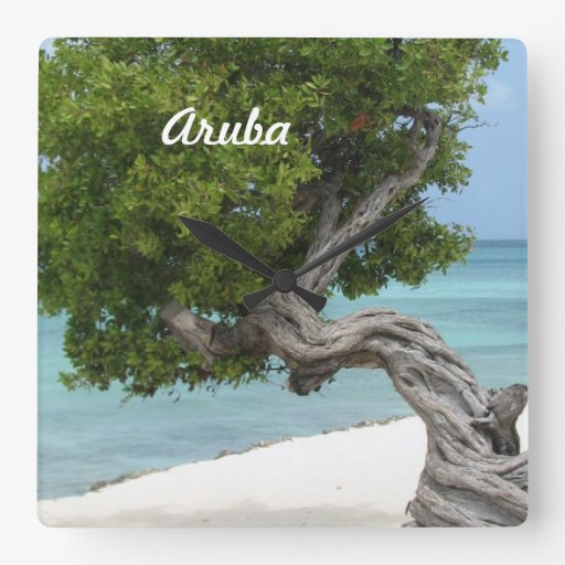 Árbol de Divi Divi en Aruba Reloj