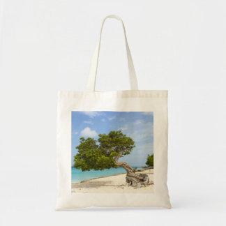 Árbol de Divi Divi en la isla caribeña de Aruba Bolsa Tela Barata