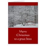 Árbol de Dogwood del navidad en la nieve para Boss Felicitación