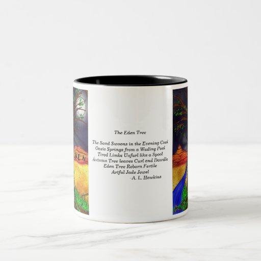 Árbol de Eden con el poema Taza De Dos Tonos