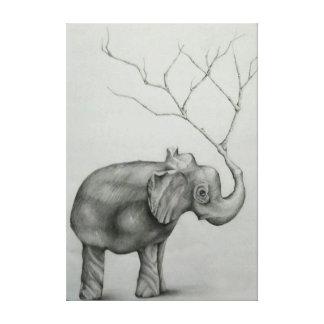 Árbol de elefante lona estirada galerías