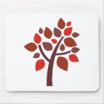 Árbol de familia 100 - rojo alfombrilla de raton