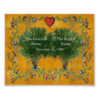 Árbol de familia - boda póster