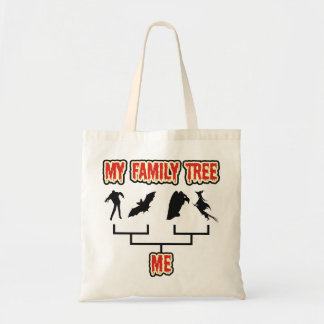 Árbol de familia de Halloween Bolsa Tela Barata