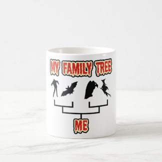 Árbol de familia de Halloween Taza
