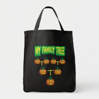 Árbol de familia de la calabaza bolsa tela para la compra