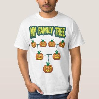 Árbol de familia de la calabaza camisas