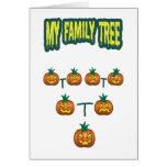 Árbol de familia de la calabaza felicitación