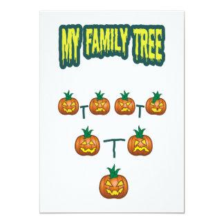 """Árbol de familia de la calabaza invitación 5"""" x 7"""""""