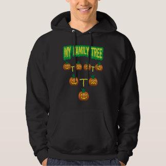 Árbol de familia de la calabaza jersey encapuchado