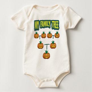 Árbol de familia de la calabaza mamelucos de bebé