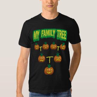 Árbol de familia de la calabaza poleras