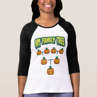 Árbol de familia de la calabaza remera