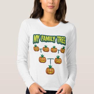 Árbol de familia de la calabaza remeras