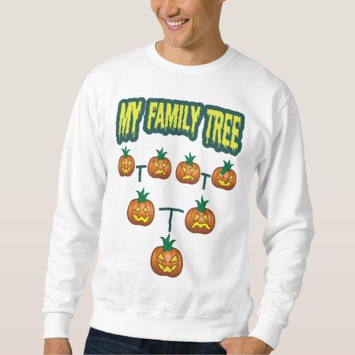 Árbol de familia de la calabaza sudadera