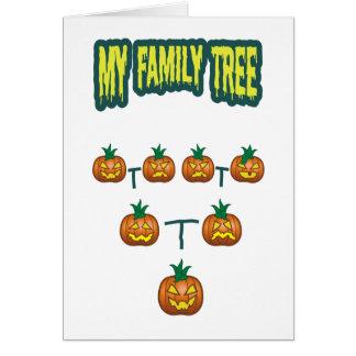 Árbol de familia de la calabaza tarjeta de felicitación