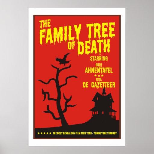 Árbol de familia de la muerte póster