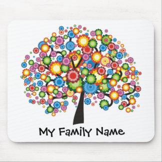 Árbol de familia del deslumbramiento tapete de ratones