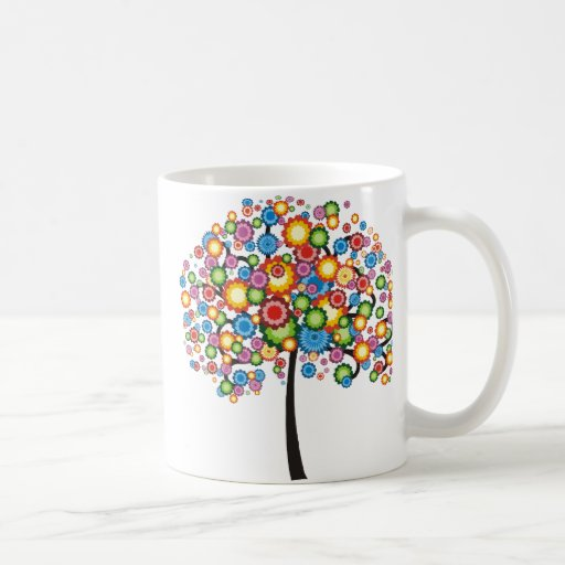 Árbol de familia del deslumbramiento tazas