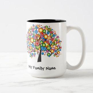 Árbol de familia del deslumbramiento taza dos tonos