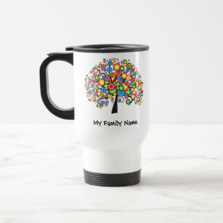 Árbol de familia del deslumbramiento taza de viaje