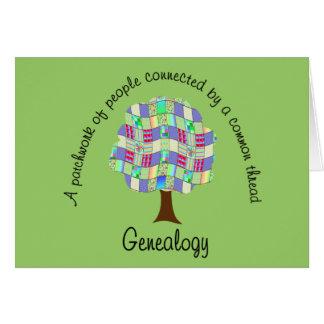 Árbol de familia del remiendo tarjeta de felicitación