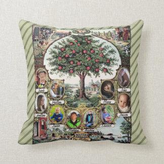 Árbol de familia del vintage cojines