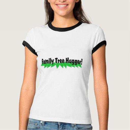 Árbol de familia Hugger T-shirts