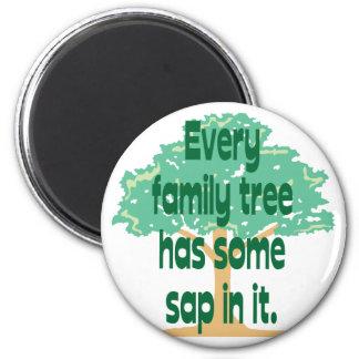 Árbol de familia imán redondo 5 cm