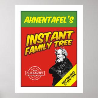 Árbol de familia inmediato poster