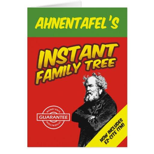 Árbol de familia inmediato tarjeta de felicitación