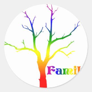 Árbol de familia pegatina redonda