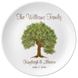 Árbol de familia plato de cerámica