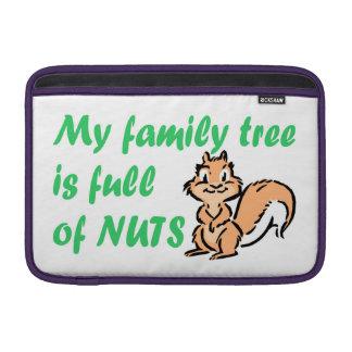 ÁRBOL DE FAMILIA POR COMPLETO DE NUECES FUNDAS MacBook