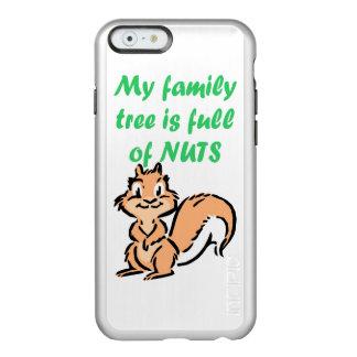 ÁRBOL DE FAMILIA POR COMPLETO DE NUECES FUNDA PARA iPhone 6 PLUS INCIPIO FEATHER SHINE