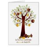Árbol de familia putrefacto divertido de Apple Felicitación