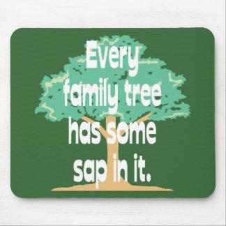 Árbol de familia tapete de ratones