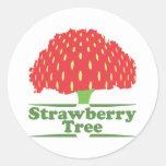 Árbol de fresa etiqueta