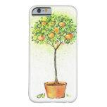 Árbol de fruta cítrica pintado de la acuarela en funda barely there iPhone 6