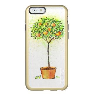 Árbol de fruta cítrica pintado de la acuarela en funda para iPhone 6 plus incipio feather shine