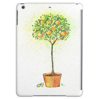 Árbol de fruta cítrica pintado de la acuarela en p