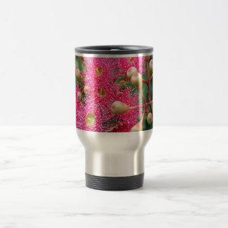 Árbol de goma australiano floreciente rosado taza de viaje