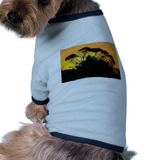 Árbol de goma en la puesta del sol Auckland Nuev Camisas De Perritos